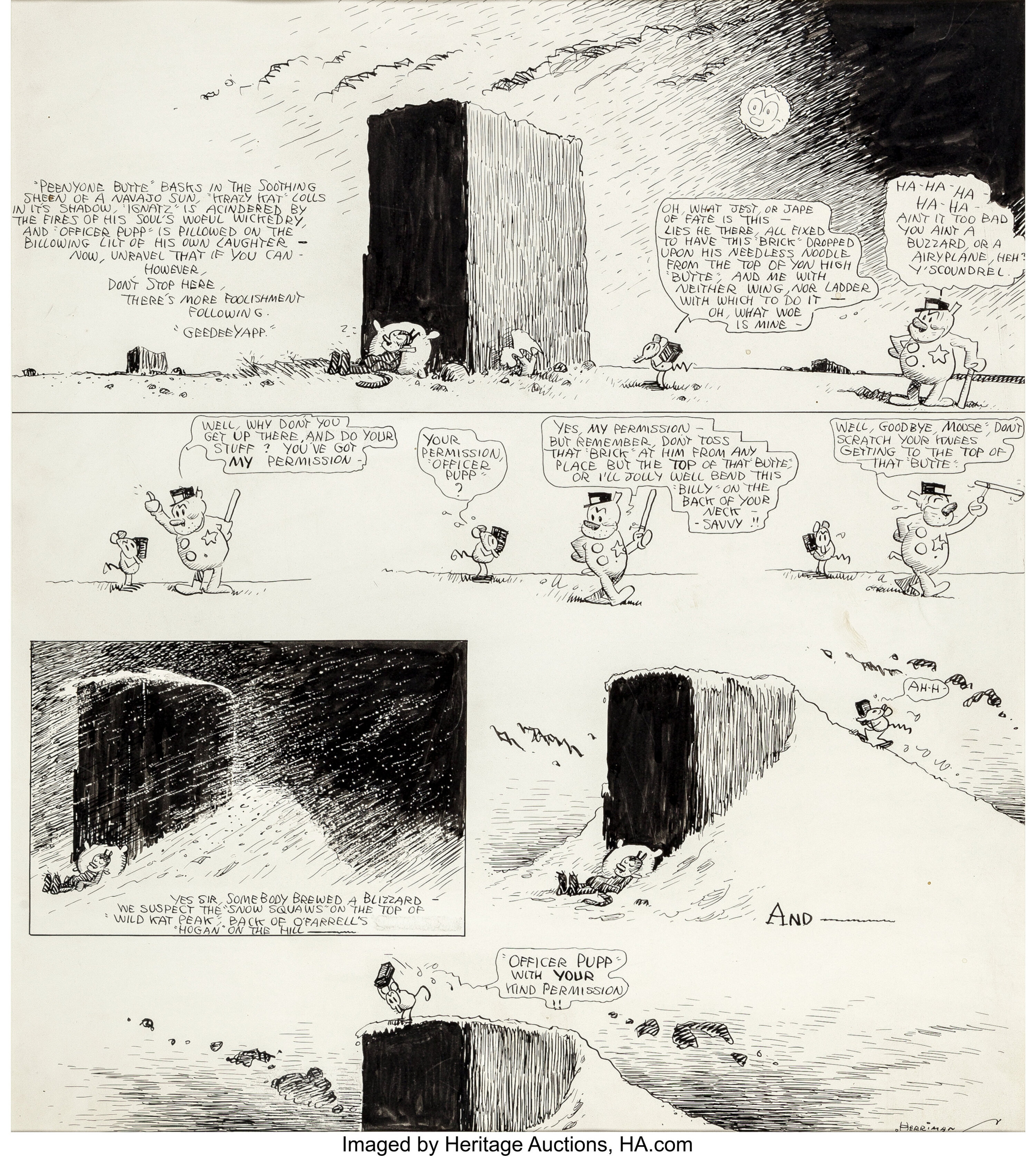 Reading Krazy Kat in the Public Domain