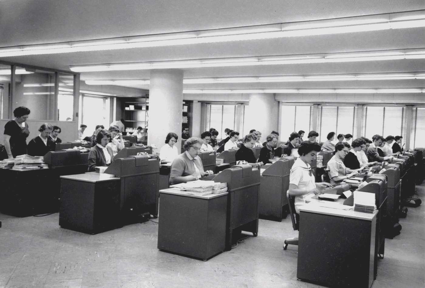 Office work in the 50s