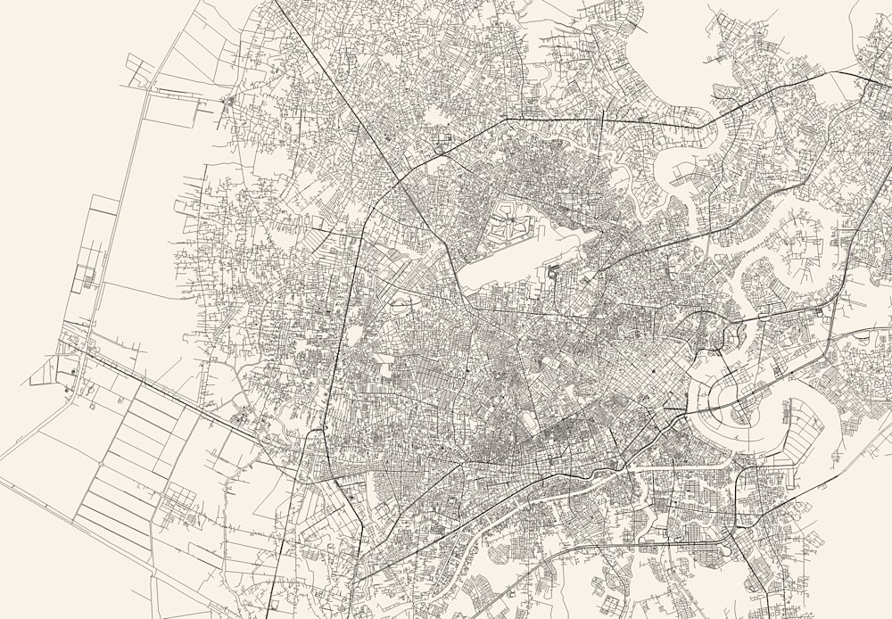 Maps of Every Single Street in Any City