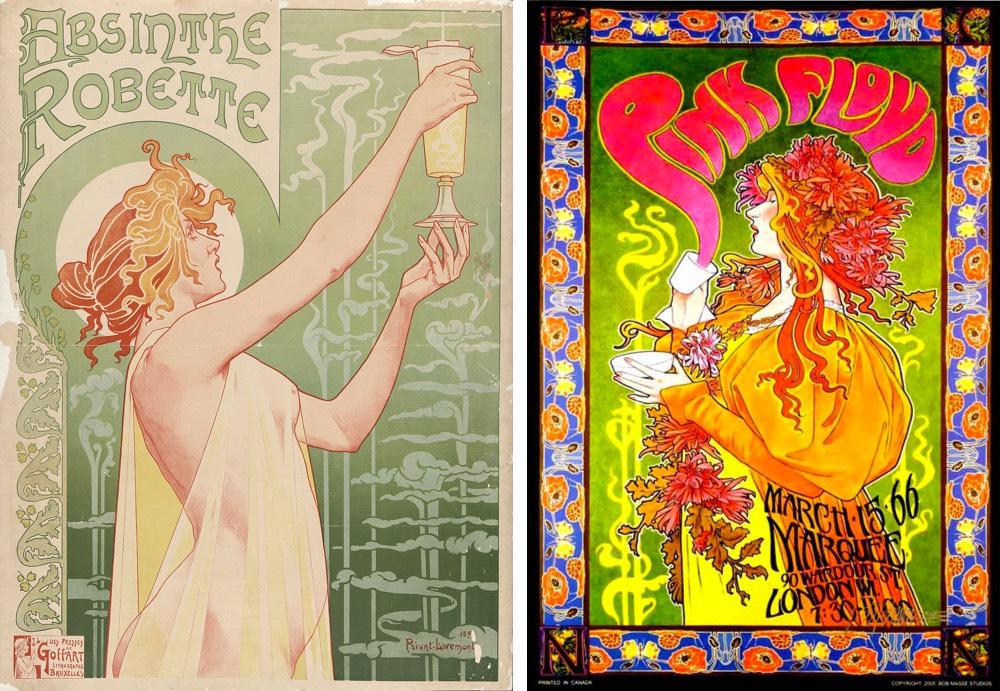 60s Posters Art Nouveau