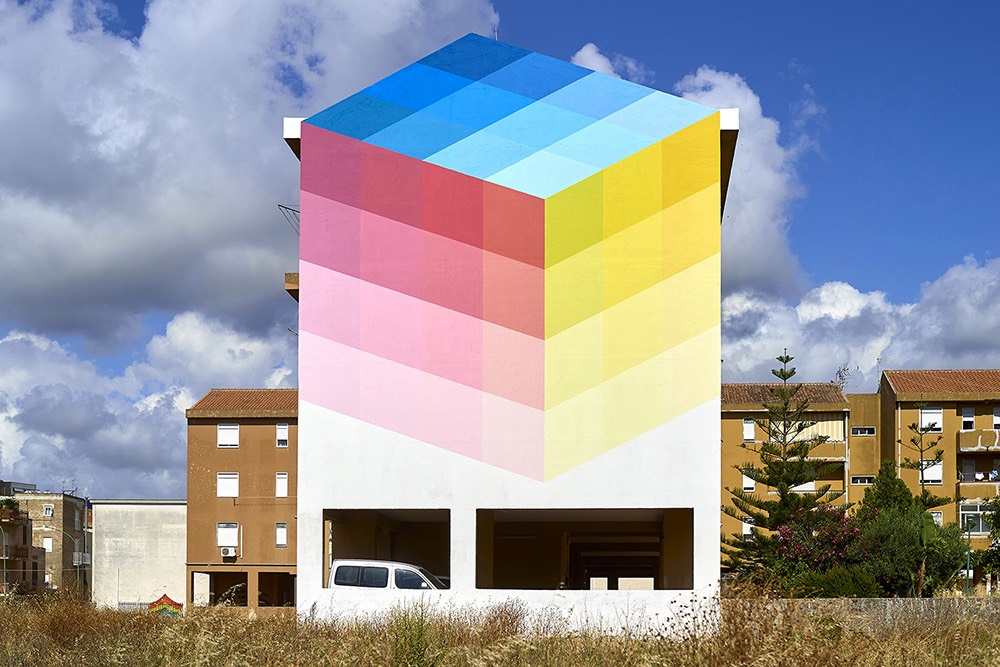 Colorful Pixelated Murals by Alberonero
