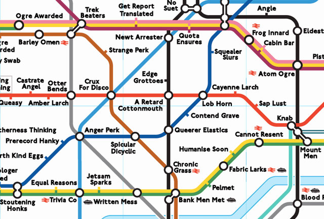 anagram map of the london underground