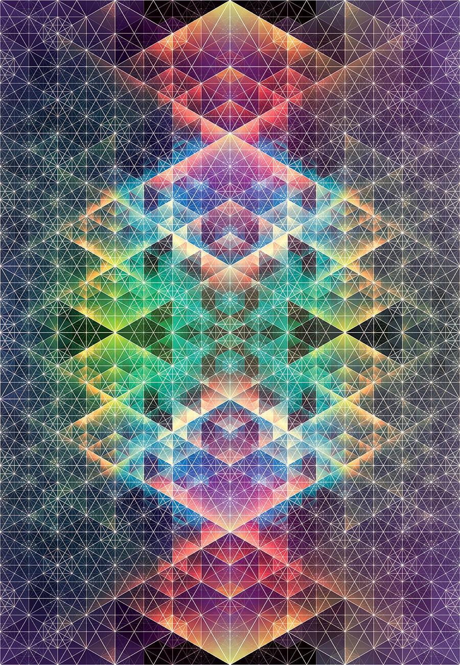 trippy geometric illustrations by andy gilmore