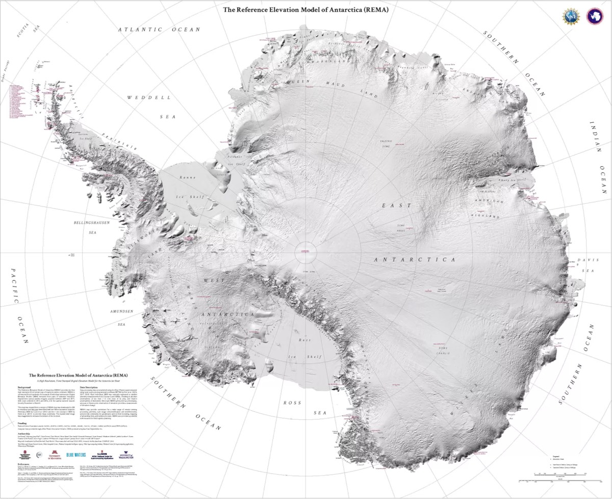 Antactica Detailed Map