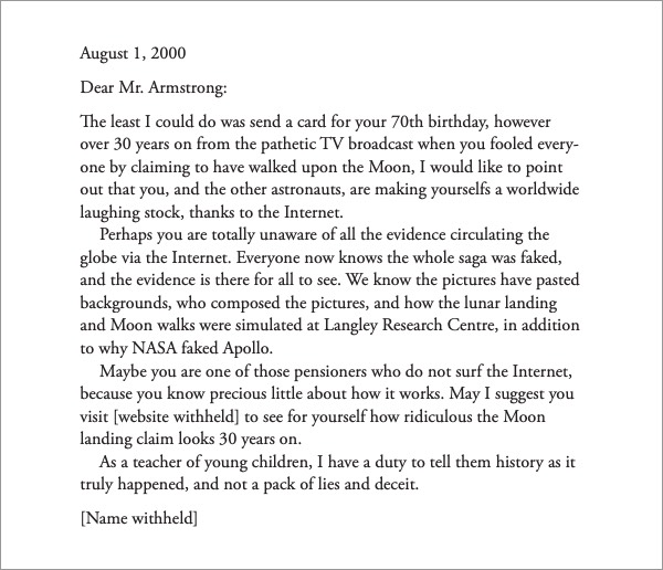 Armstrong Letter Hoax