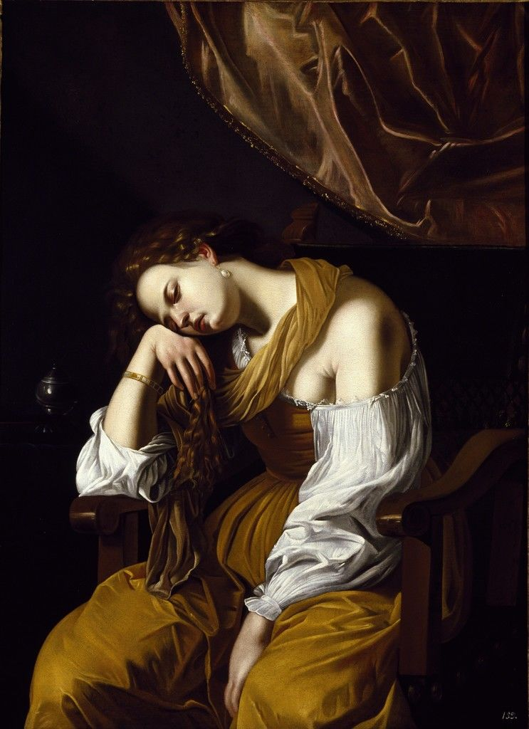 Artemisia Gentileschi, Mary Magdalene as Melancholy