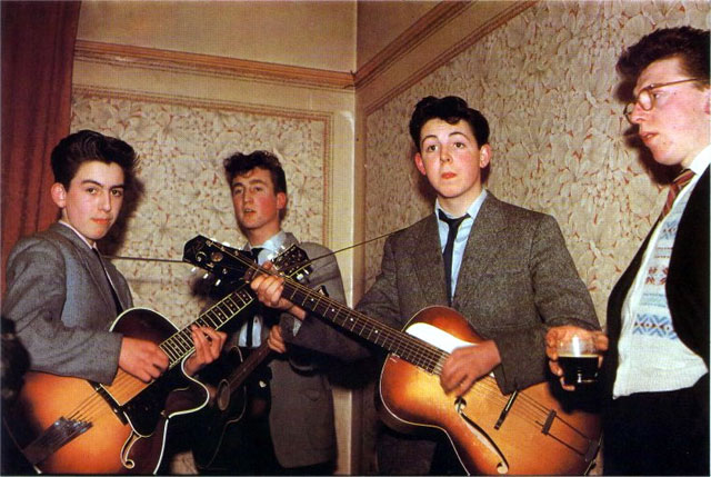 Color Photo Of The Beatles In 1957