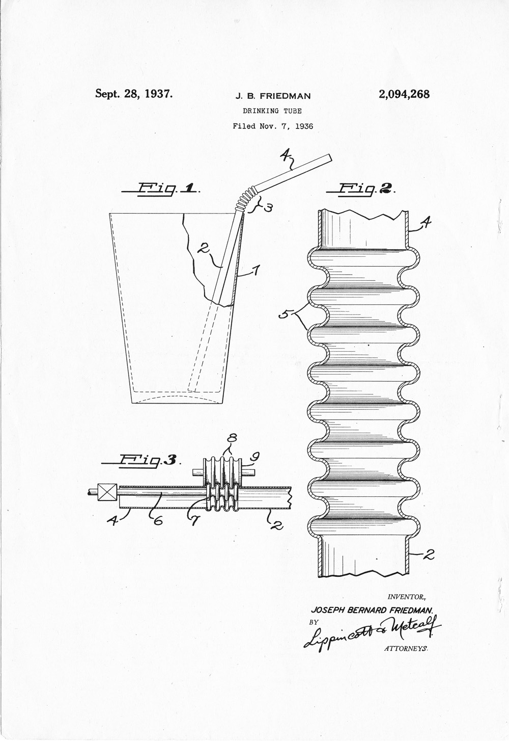 Bendy Straw Patent