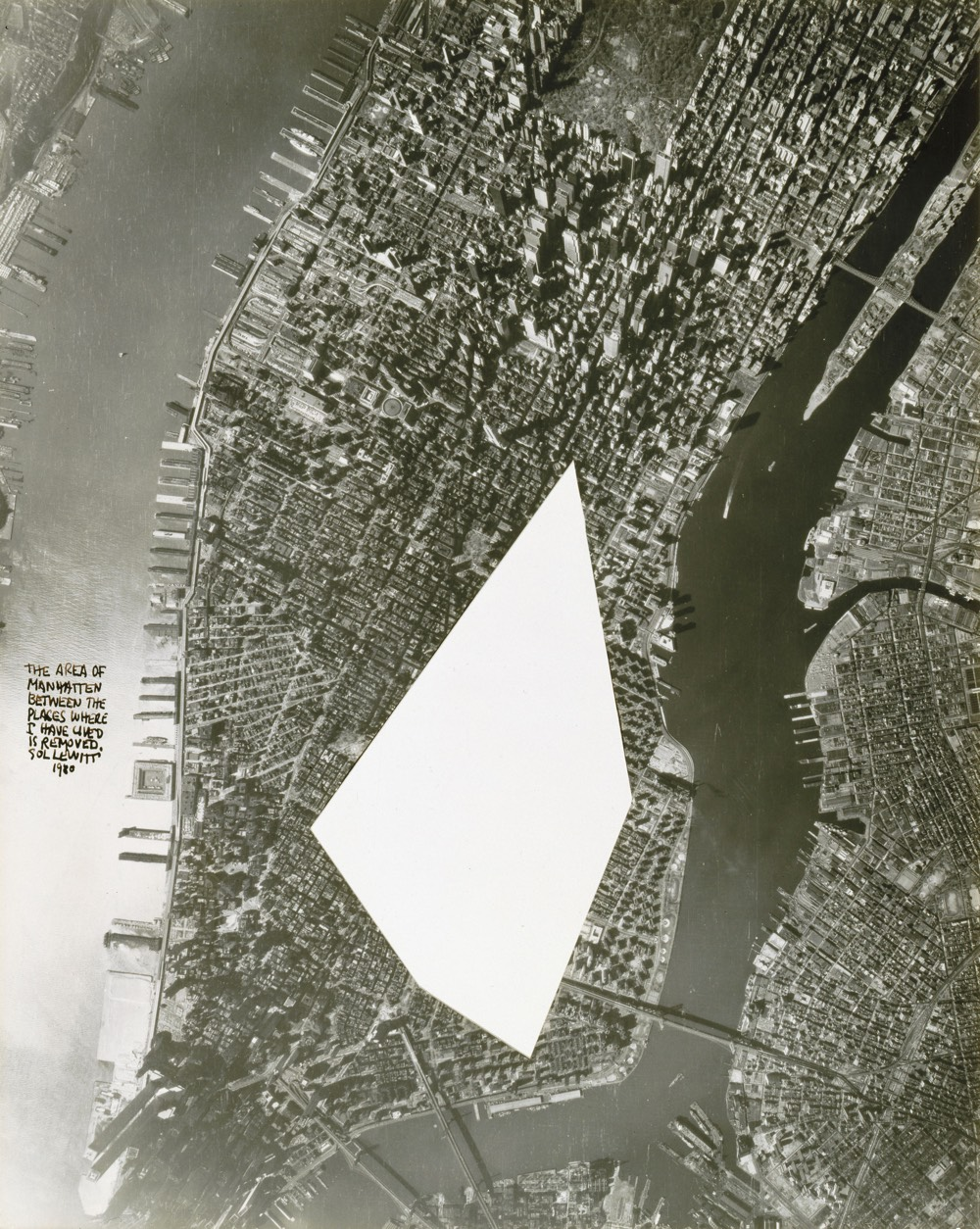 The Area of Manhattan Between the Places I Have Lived Is Removed by Sol LeWitt