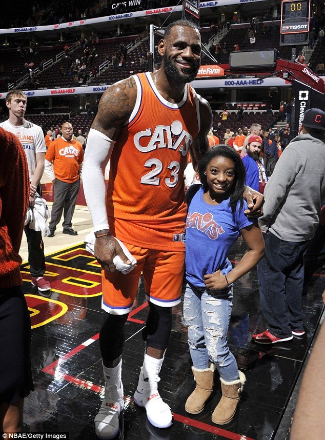 Lebron James Height >> Who Could Jump Higher On A Trampoline Lebron James Or Simone Biles