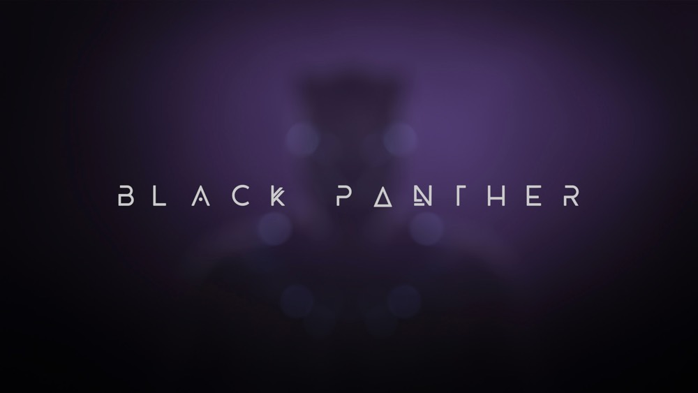 The Cool Futuristic Typeface From The Black Panther Ending Credits