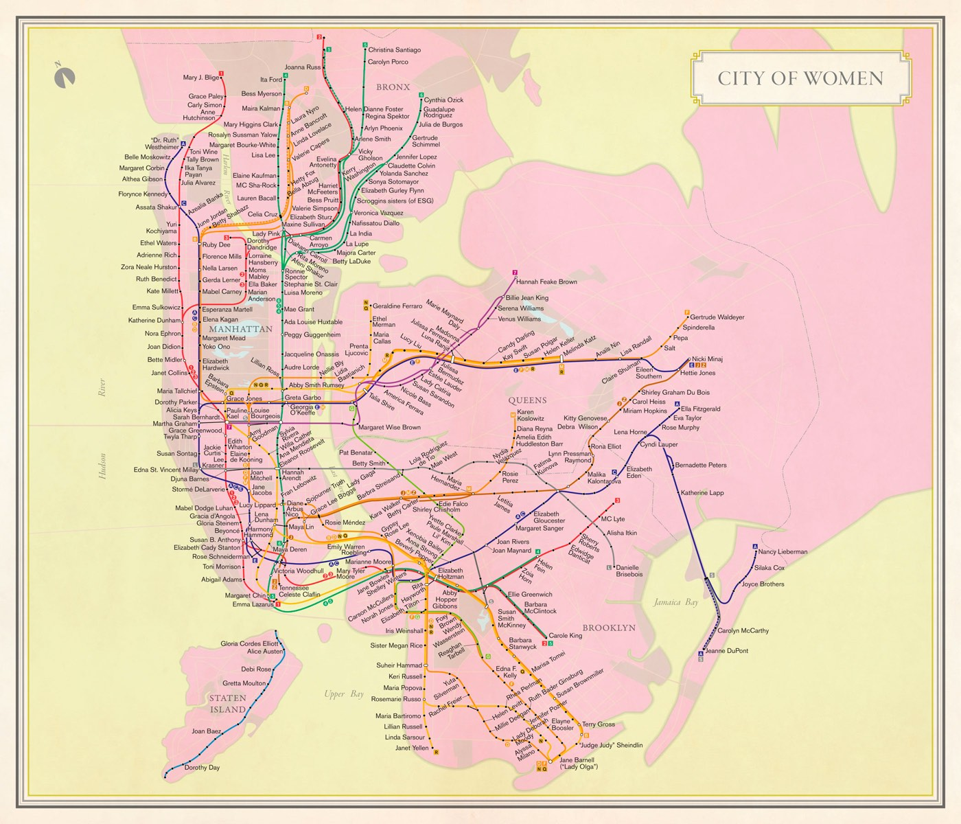 City Of Women Subway Map