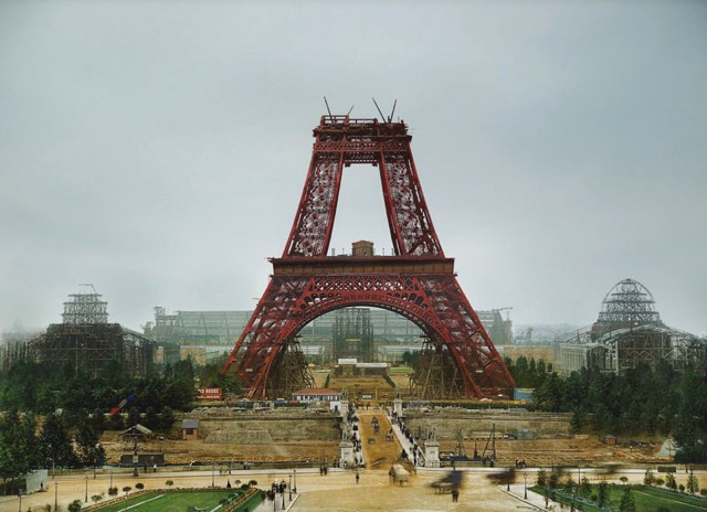 Colorized Eiffel Tower