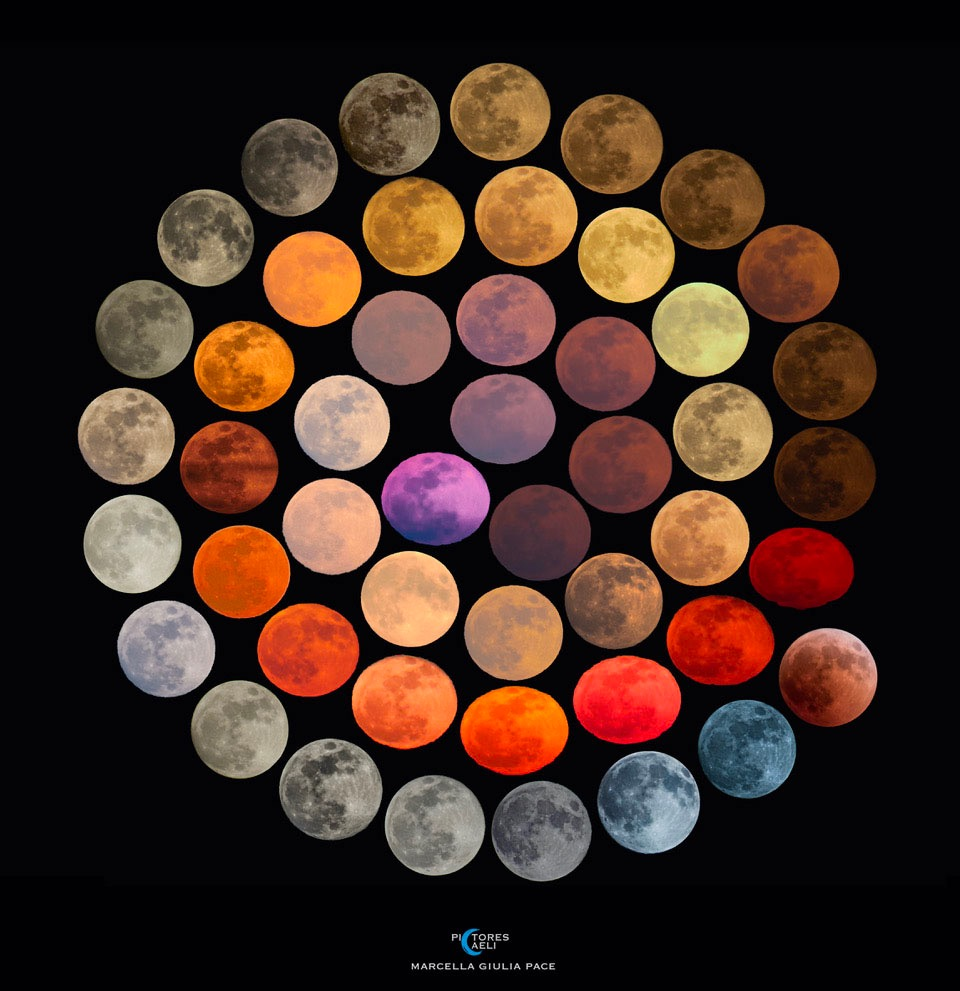 The Many Colors of the Moon
