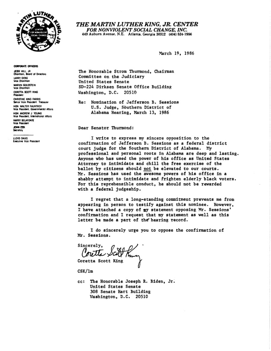 Coretta King Letter Sessions