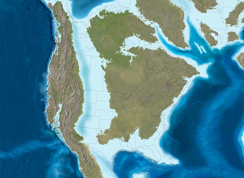 How the Cretaceous coastline of North America affects US