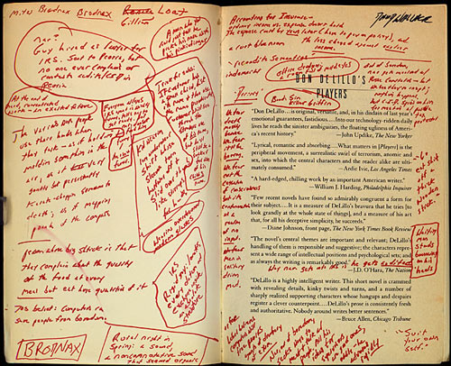 David Foster Wallace's annotated DeLillo