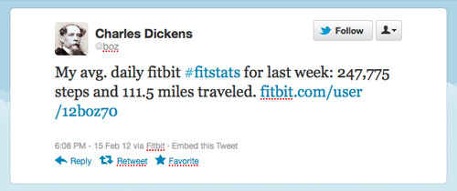 Dickens Fitbit stats