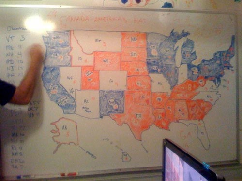 Dry Erase Election Map