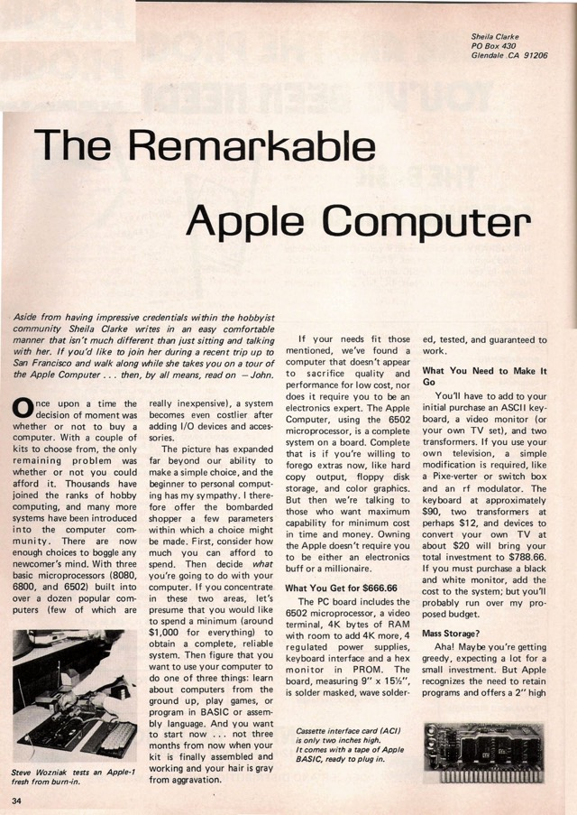 Early Apple Article