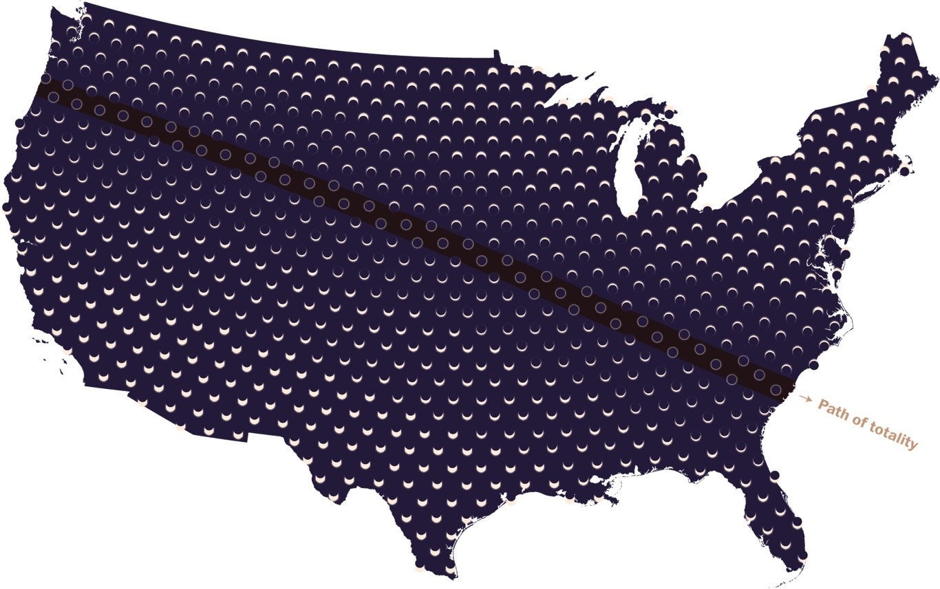 Eclipse Maps Of The US From BC To Years Into The Future - Future map of us