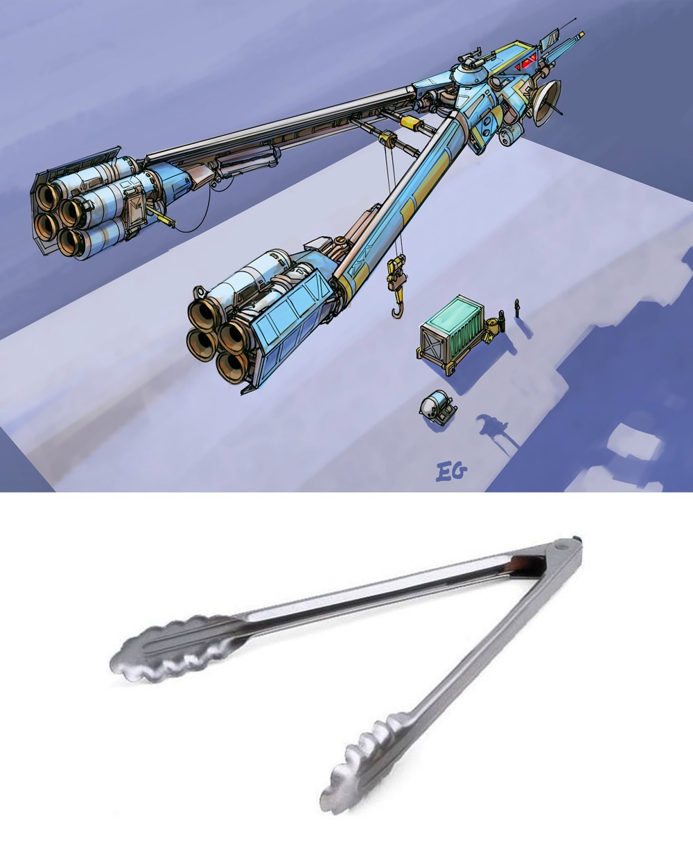 Sci Fi Spaceship Designs Inspired By Everyday Objects