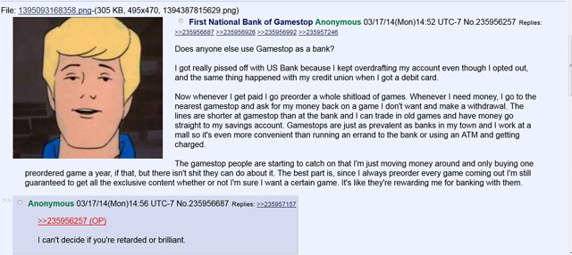 Gamestop Bank