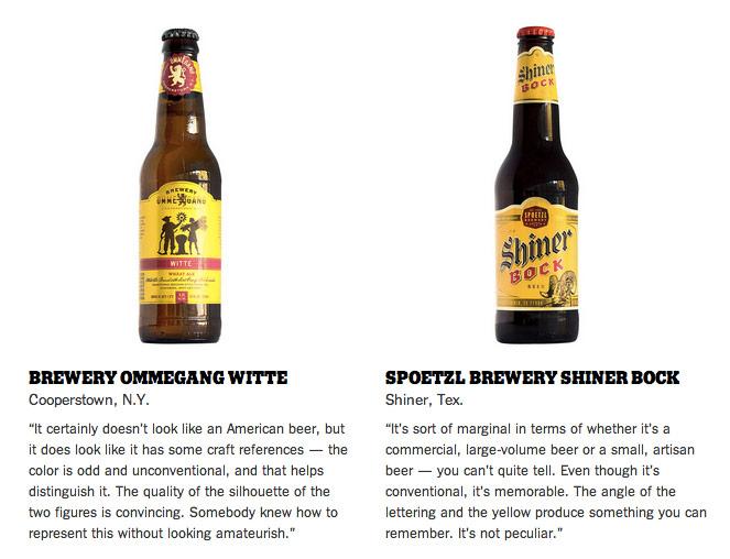 Milton Glaser reviews beer bottle art | {Gläser 62}