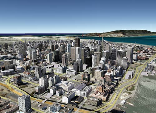 The newest version of Google Earth includes 3-D photorealistic