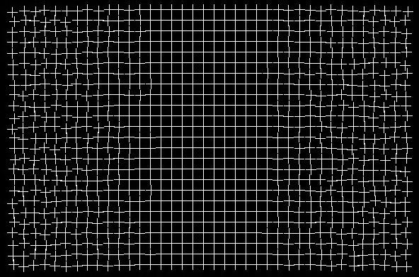 Healing Grid Optical Illusion