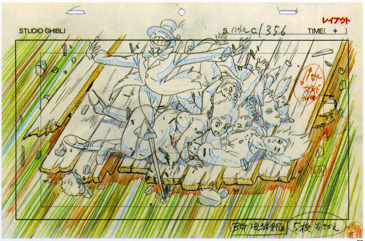 miyazaki s layouts for howl s moving castle