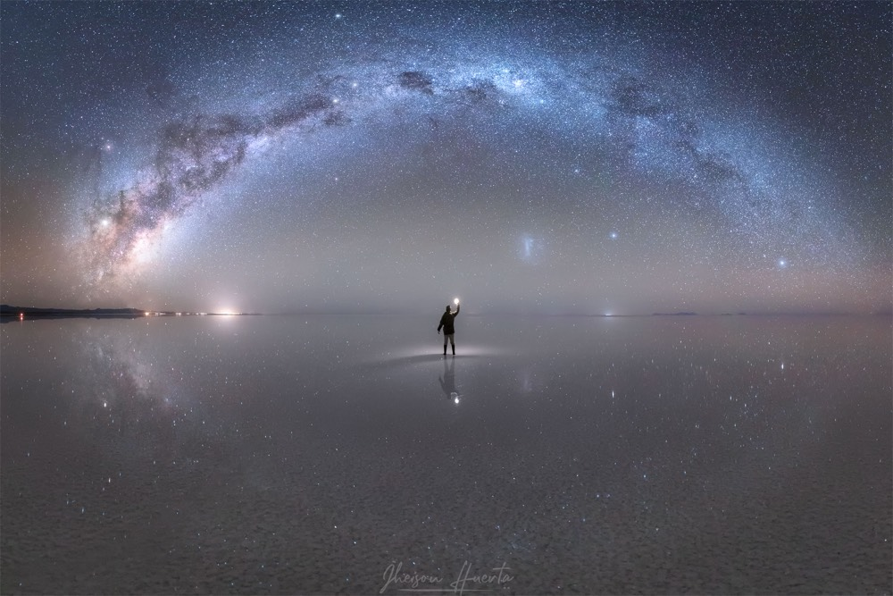 The Milky Way Reflected In The World S Largest Mirror