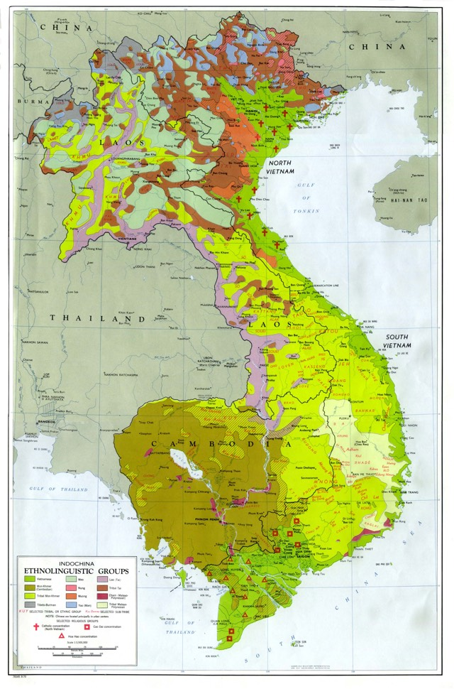 language map indochina