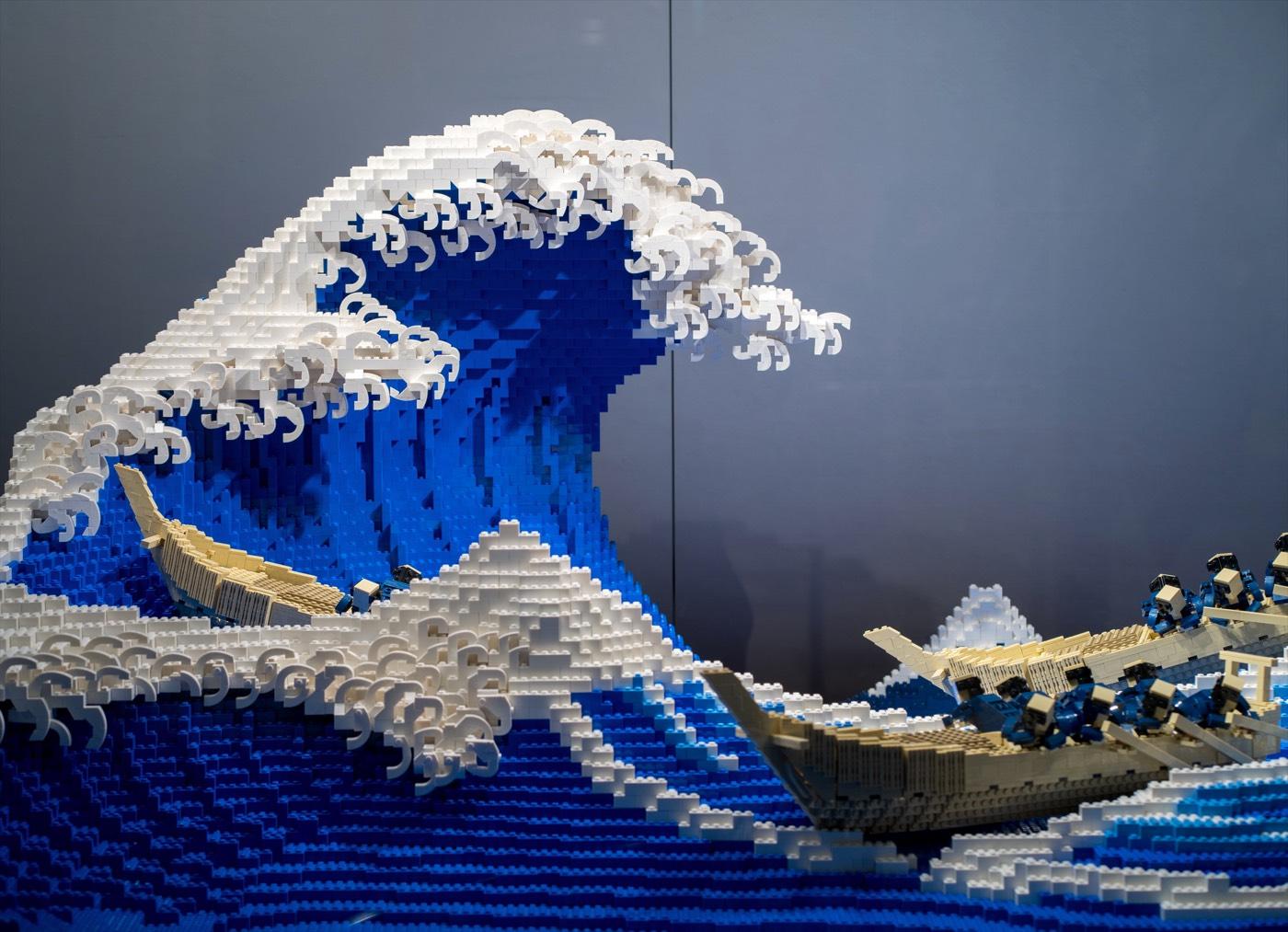 Lego Version of Hokusai's Iconic The Great Wave off Kanagawa