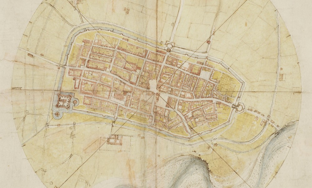 How Leonardo Constructed a Satellite-View Map in 1502 Without Ever Leaving the Ground