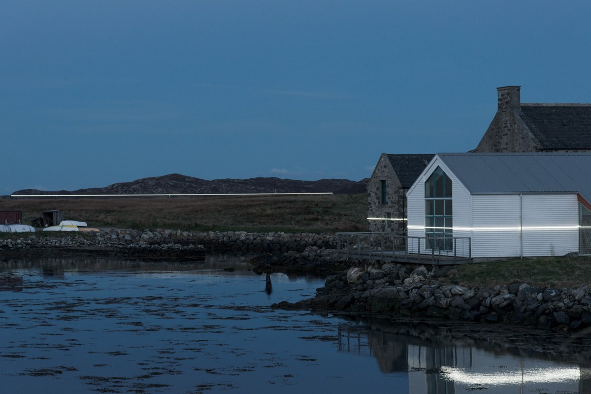 A Light Installation in a Scottish Coastal Town Vividly Shows Future