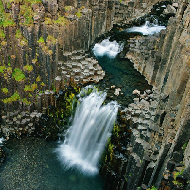 Hexagonal rocks