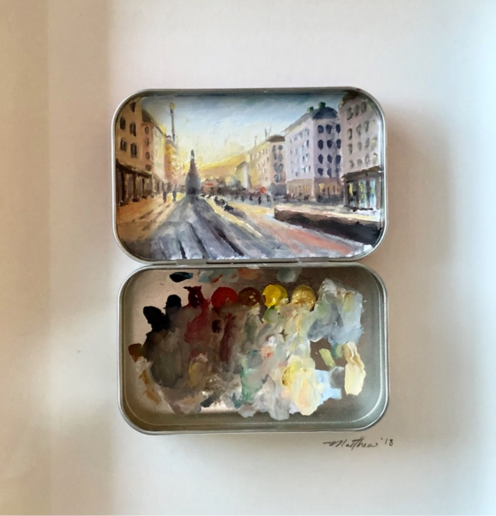 Tiny Impressionist Oil Paintings Inside the Covers of Altoids Tins