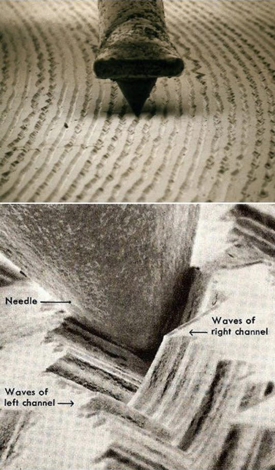 Microscopic Photo Of Vinyl Record Grooves