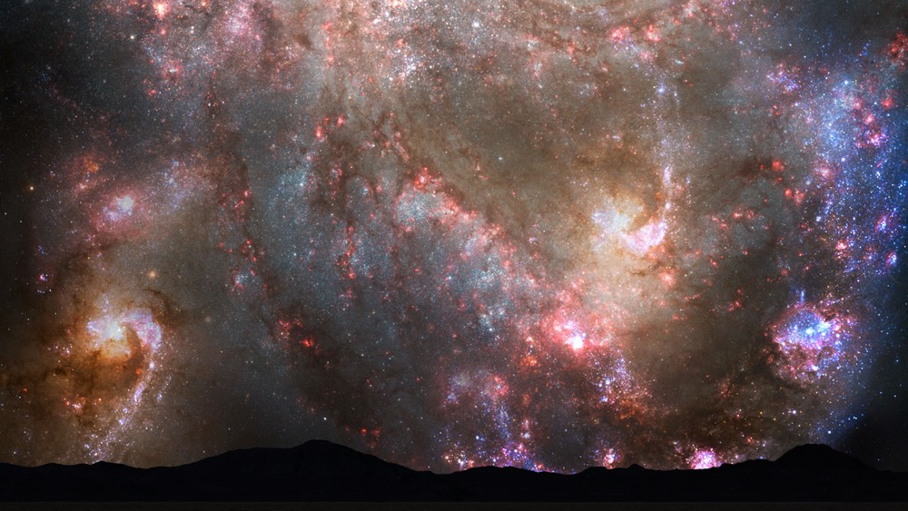 Behold Our Dazzling Night Sky When the Milky Way Collides with Andromeda in 4 Billion Years