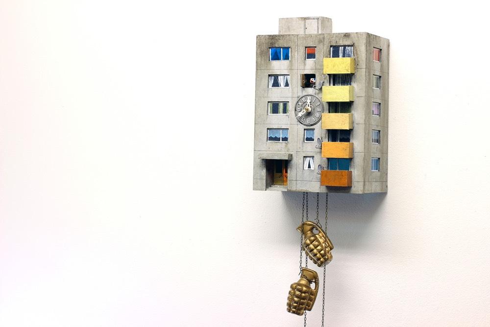 Brutalist Cuckoo Clocks