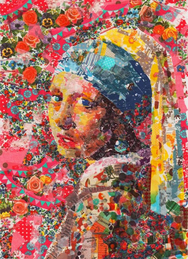 Famous Paintings Recreated With Colorful Masking Tape