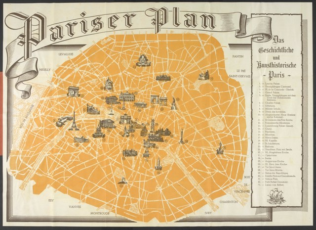 1940 Nazi tourist map of Paris