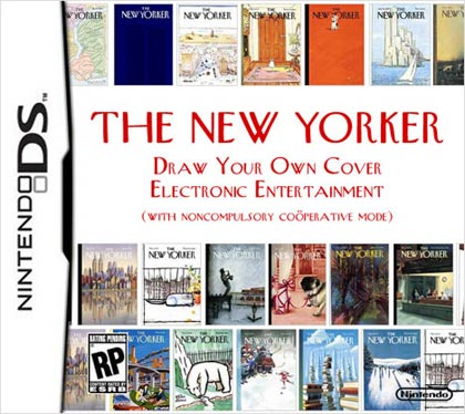 The New Yorker Draw Your Own Cover Electronic Entertainment