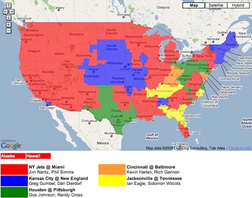 NFL TV Maps