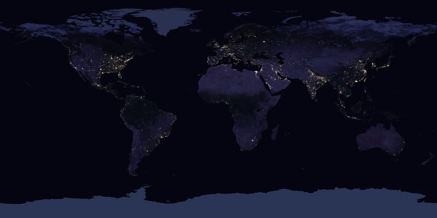 Nasa S New Nighttime Map Of The Entire Earth