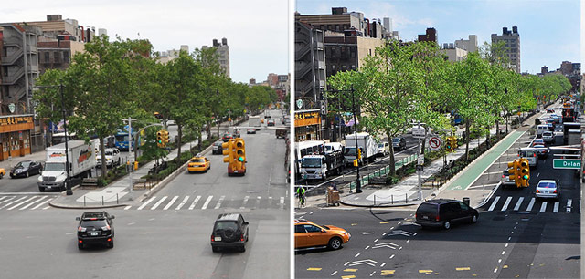 NYC streets, before/after