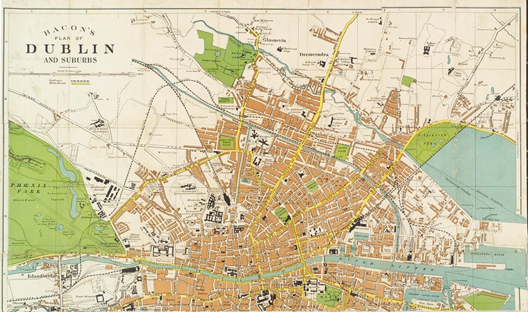 Map of Dublin - NYPL digital collections
