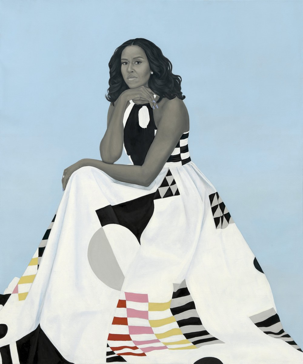 The official painted portraits of Barack and Michelle Obama