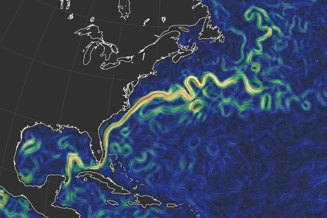 realtime map of global ocean currents